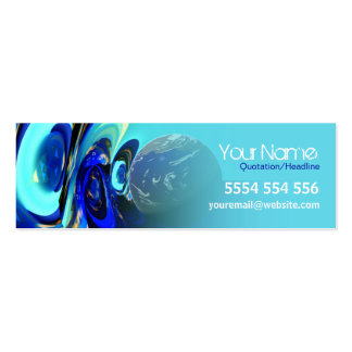 iEarth Mini Business Contact Card Pack Of Skinny Business Cards