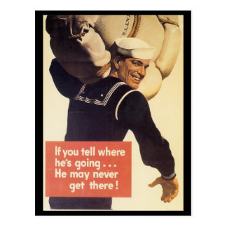 If You Tell World War 2 Postcard