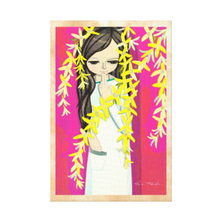Ikeda Shuzo Flower Curtain young kawaii girl Gallery Wrapped Canvas