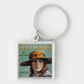 I'll Tell The World Silver-Colored Square Key Ring