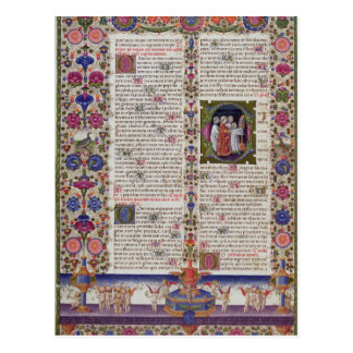 Illuminated page from the Book of Psalms Postcard