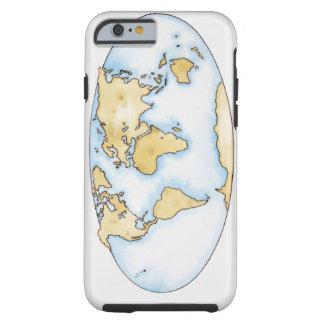 Illustration of world map tough iPhone 6 case