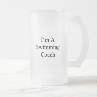 I'm A Swimming Coach Frosted Glass Mug