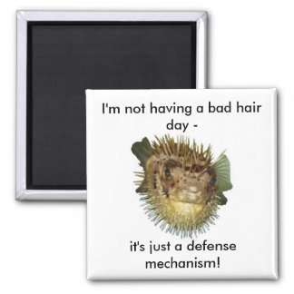 I'm not having a bad hair day - square magnet