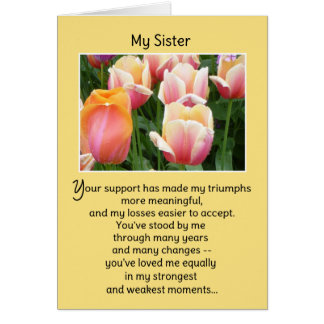 I'm proud to call you my sister... greeting card