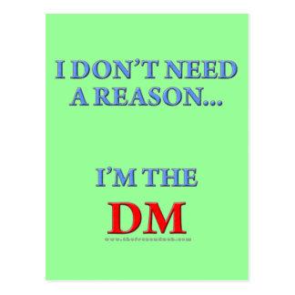 I'm the DM Postcard