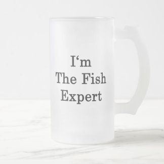 I'm The Fish Expert Frosted Glass Mug