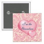 Im the Grandma Pink 15 Cm Square Badge