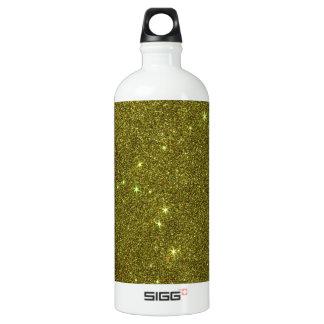 Image of greenish yellow glitter SIGG traveller 1.0L water bottle