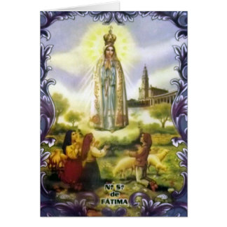 Image of the apparition Our Lady of Fatima Greeting Card