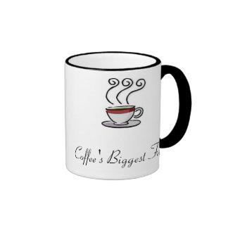 images, Coffee's Biggest Fan Ringer Mug