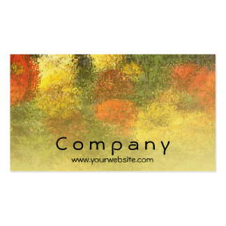 Impressionist Zinnia Garden Pack Of Standard Business Cards