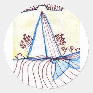 In the Planes of Pattern Dance Round Sticker