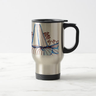 In the Planes of Pattern Dance Stainless Steel Travel Mug