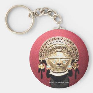 Inca gold ceremonial knife (Tumi),  Lima, Peru Basic Round Button Key Ring