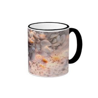 Incoming Surf And Seashells On Sanibel Island Ringer Mug