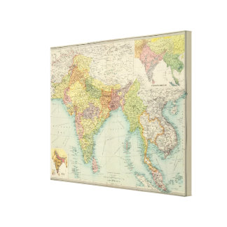India & Farther India political Stretched Canvas Prints
