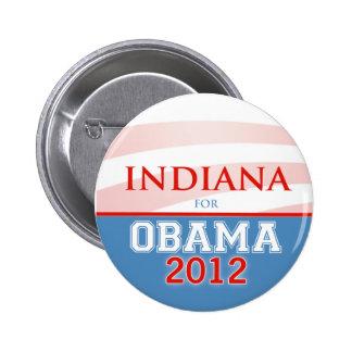 INDIANA for Obama 2012 6 Cm Round Badge