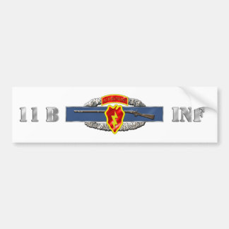INFANTRY 11B 25TH ID AIR BUMPER STICKER
