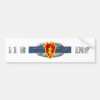 INFANTRY 11B 25TH ID BUMPER STICKER