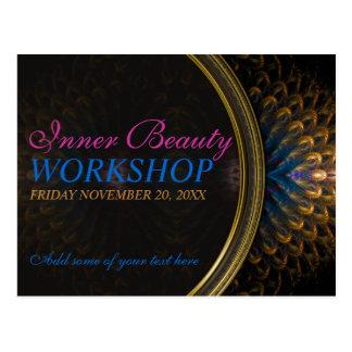 Inner Beauty Goddess Workshop Invitation template Postcard