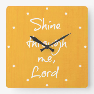 Inspirational Christian Quote Affirmation Prayer Wall Clocks