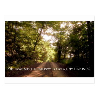 Inspirational Quote -- Passion Postcard