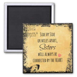 Inspirational Sister Quote Square Magnet