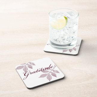 Inspirational Words Gratitude Beverage Coasters
