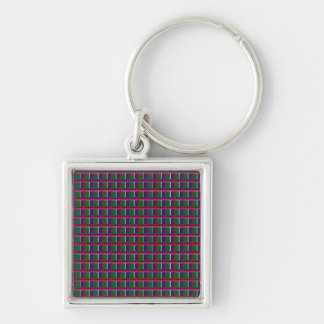 INTENSE Color Patterns Sparkles Giveaway GIFTS luv Silver-Colored Square Key Ring