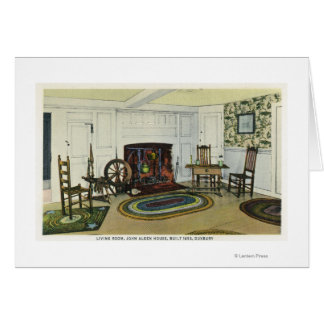 Interior Living Room View of the John Alden Greeting Card