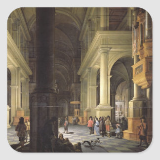 Interior of a Temple, 1652 Square Sticker