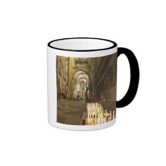 Interior of St. Peter's Cathedral in Regensburg Ringer Mug