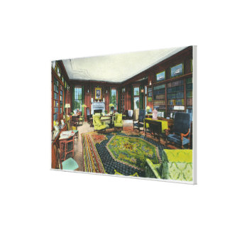 Interior View of FDR's Living Room Stretched Canvas Prints