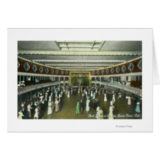 Interior View of the Casino Ball Room Greeting Card