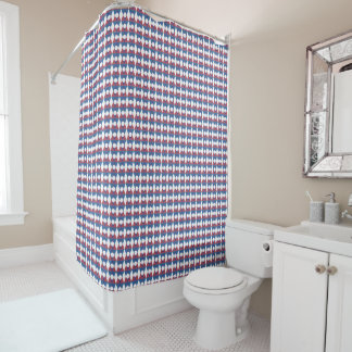 Intersecting Blue to Red Shower Curtain