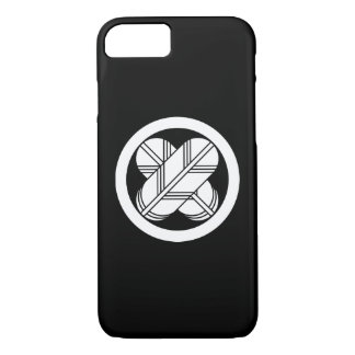 Intersecting hawk feathers in circle iPhone 7 case