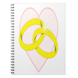 Intertwined Wedding Rings Spiral Note Book