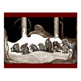 Into the Christmas Night Tomte-Nisse Postcard