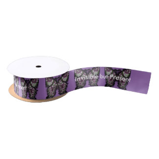 Invisible but Present butterfly Satin Ribbon