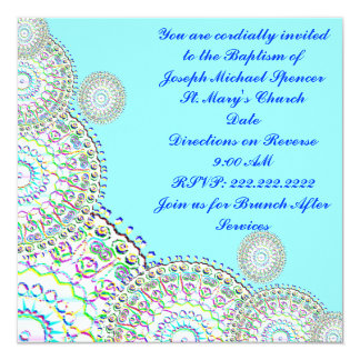 Invitation/Announcement Birth, Baptism, Shower 13 Cm X 13 Cm Square Invitation Card