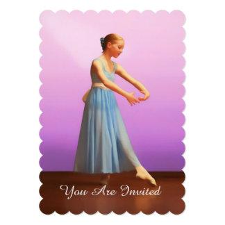 Invitation, Dance Recital, Ballerina in Blue 13 Cm X 18 Cm Invitation Card