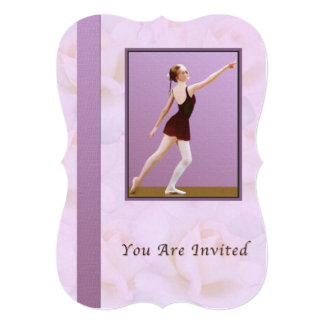 Invitation, Dance Recital, Ballet 13 Cm X 18 Cm Invitation Card
