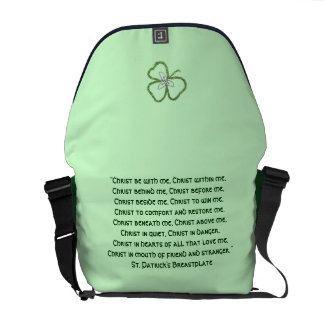 Irish Celtic Shamrock Knot St. Patrick's Prayer Messenger Bags