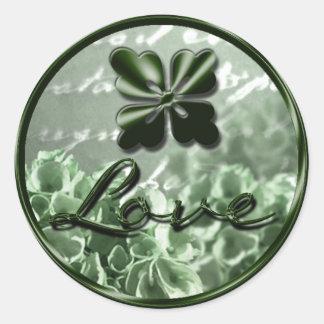 Irish Love Envelope Seal Round Sticker