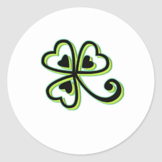 Irish Luck Round Sticker