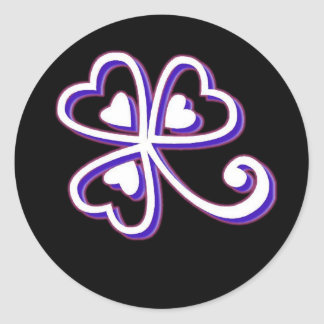 Irish Lucky clover Round Sticker