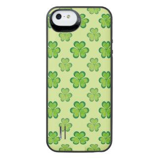 Irish Lucky Shamrocks Clovers Seamless Pattern iPhone SE/5/5s Battery Case