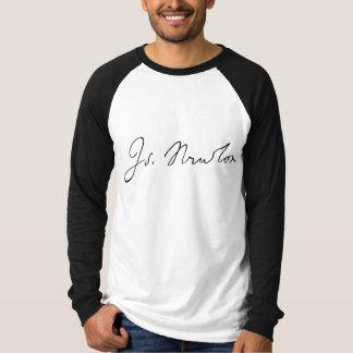 Isaac Newton Signature Tee Shirt