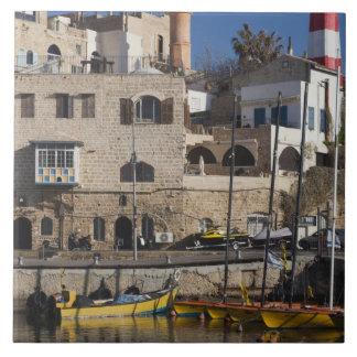 Israel, Tel Aviv, Jaffa, Jaffa Old Port Large Square Tile